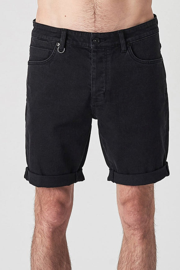 Neuw MENS RAY BLACK DENIM SHORTS - EVOLUTION BLACK - Elwood 101