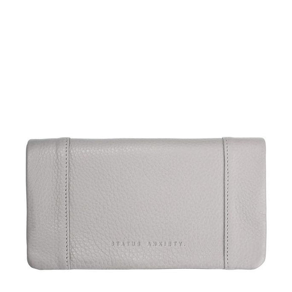 Status Anxiety WOMENS SOME TYPE OF LOVE WALLET LIGHT GREY LEATHER - Elwood 101