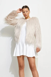 Unreal Fur WOMENS UNREAL DREAM JACKET - NUDE
