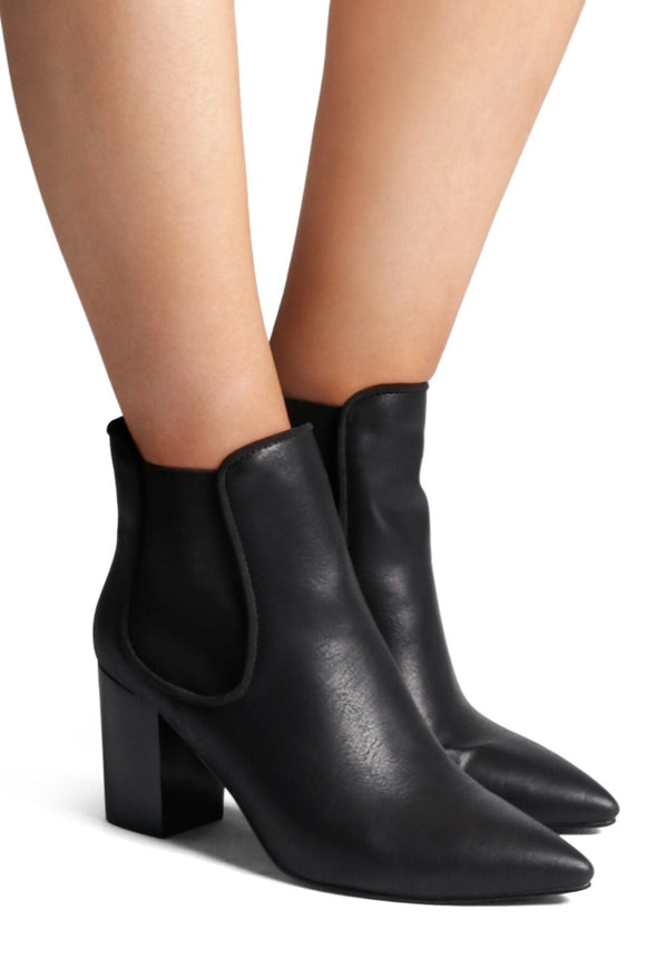 Billini WOMENS VOLTAIRE ANKLE BOOT BLACK