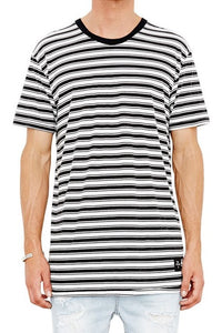 The People Vs 1CM STRIPE TEE BLACK & WHITE