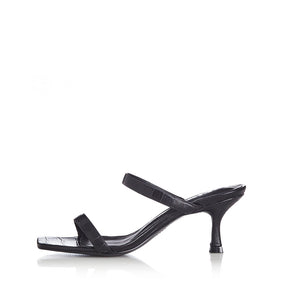Alias Mae BAILEY LEATHER HEELS BLACK CROC