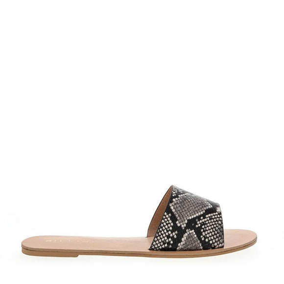 Billini WOMENS CRETE SLIDES NATURAL SNAKE...Last Ones Available