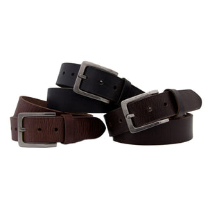 Loop Leather Co  MENS BILLY BASICS LEATHER BELT BLACK - Elwood 101