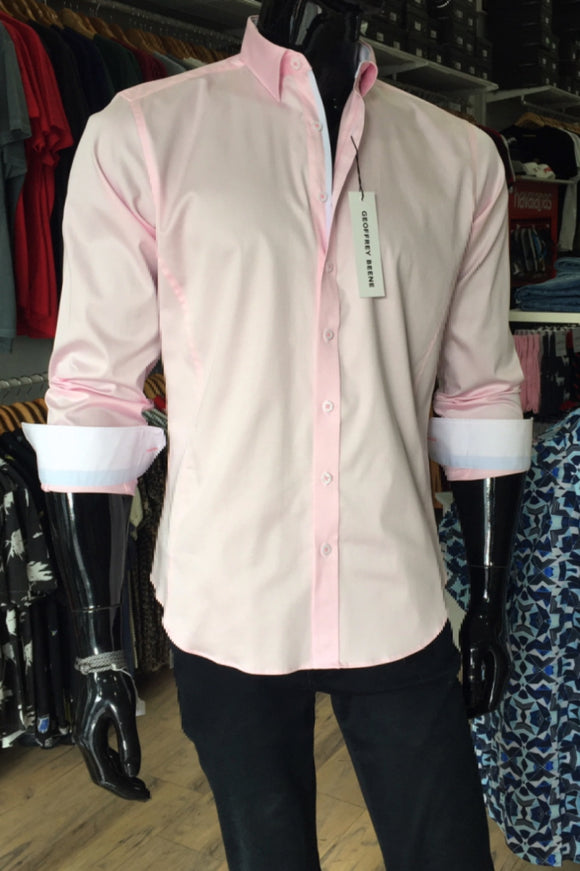 Geoffrey Beene MENS SAN ANDRE'S TWILL BODY FIT SHIRT PINK