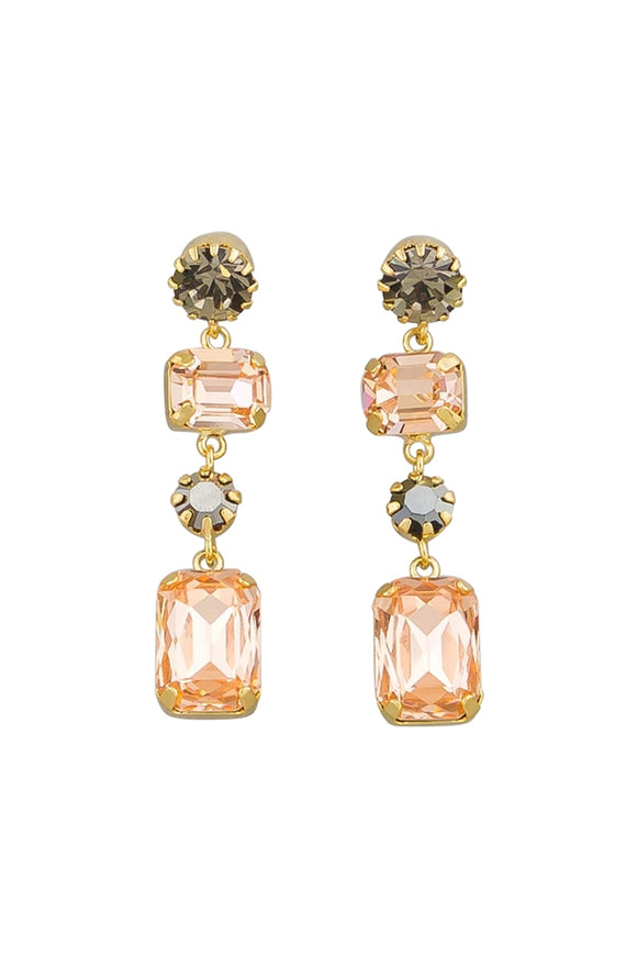 Jolie & Deen WOMENS JANICE EARRINGS  PEACH ..FREE POSTAGE Details Below - Elwood 101