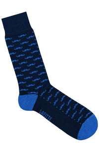 Lafitte MOUSTACHE NOVELTY SOCKS NAVY - Elwood 101