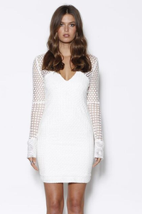 MINISTRY OF STYLE VANISH LACE DRESS IVORY