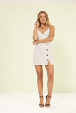 Mink Pink SIENNA MINI DRESS WHITE/BLACK...Last One Available - Elwood 101