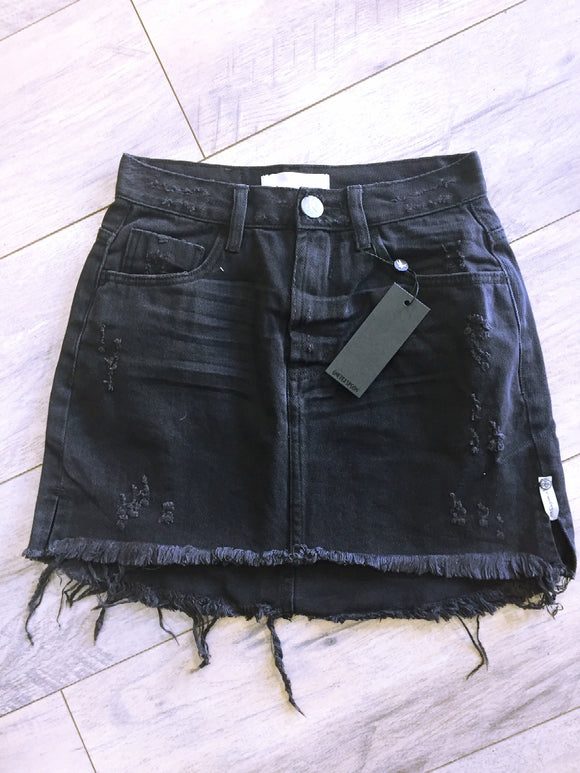 OneTeaspoon BLACK OAK 2020 MINI HIGH WAIST DENIM SKIRT