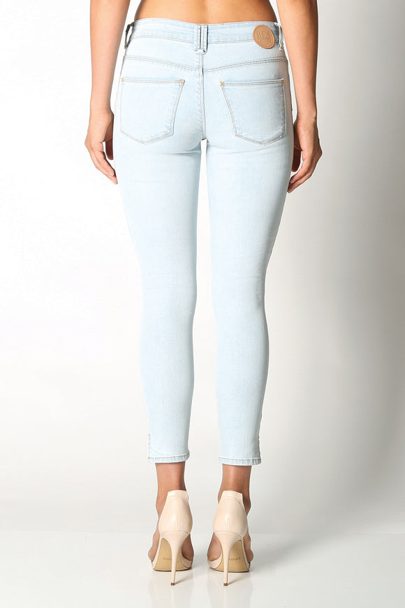 Res Denim TRASHQUEEN CROP BARE BONES