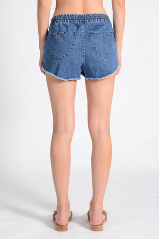 JOGGER SHORT PALMS BLUE