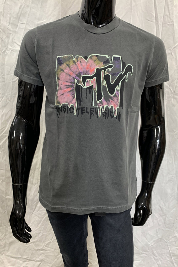 Rollas MENS MTV TIE DYE TEE - BLACK - Elwood 101