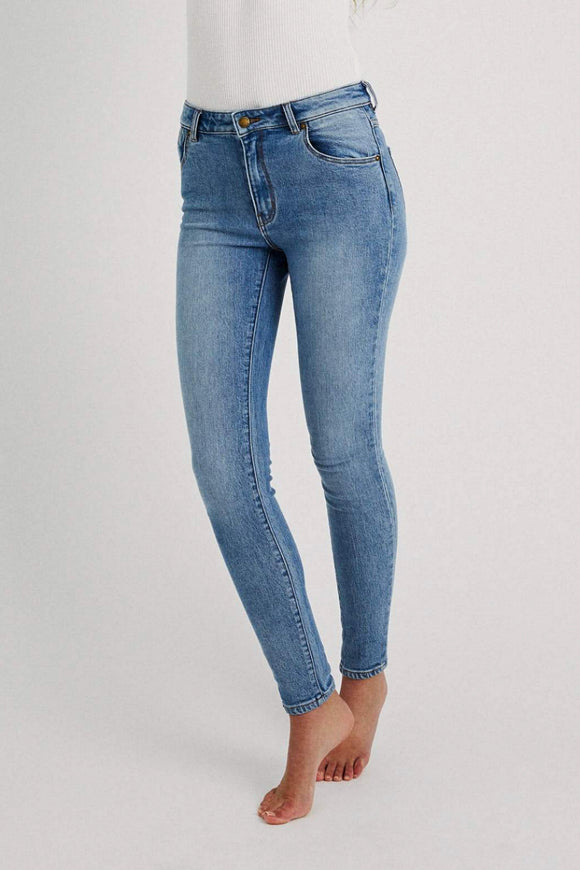 Rollas WOMENS WESTCOAST ANKLE SKINNY JEANS -CAMILLE BLUE ORGANIC
