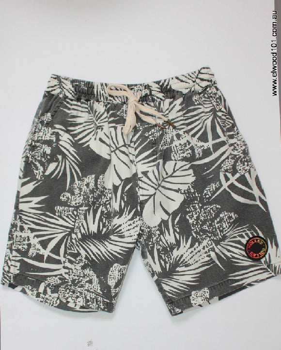 Rollas MENS MONDO SHORT BLACK PALMS...Last Pair - Elwood 101