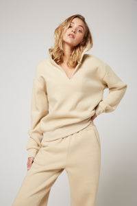 Rozalia Russian x Atoir  WOMENS THE COLLAR JUMPER - OATMEAL