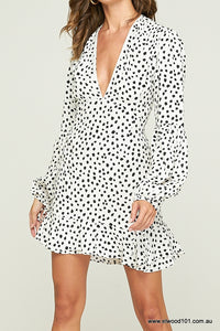 Rue Stiic WOMENS ROMEO MINI DRESS PEBBLES - NOIR - Elwood 101