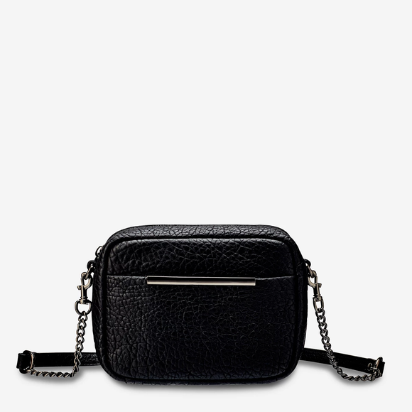 Status Anxiety CULT LEATHER BAG BLACK BUBBLE