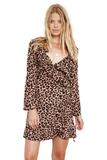 THE PEOPLE VS. AVA WRAP DRESS HYENA