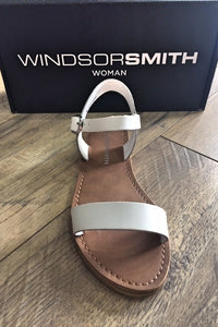 Windsor Smith KEIRA WHITE LEATHER SANDALS