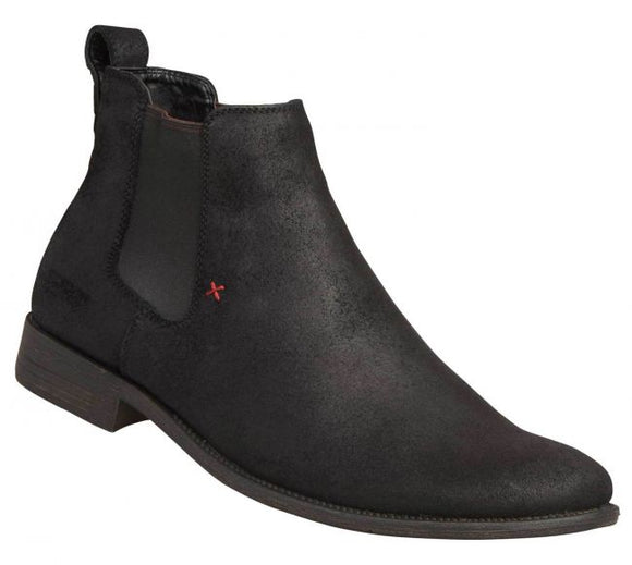 Windsor Smith MENS PRINCETON BLACK OIL SUEDE BOOTS