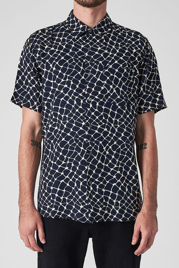 Neuw MENS WEB SHORT SLEEVE SHIRT NAVY