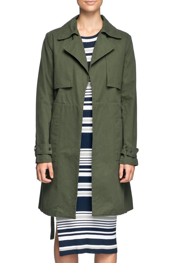 Elwood WOMENS LUCA TRENCH COAT MILTARY...Last Ones Available - Elwood 101
