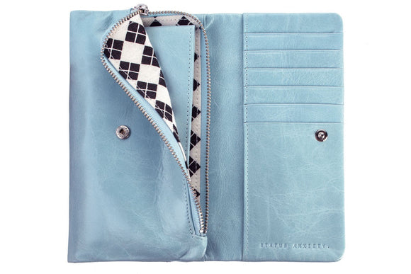 Status Anxiety WOMENS AUDREY WALLET SKY - Elwood 101