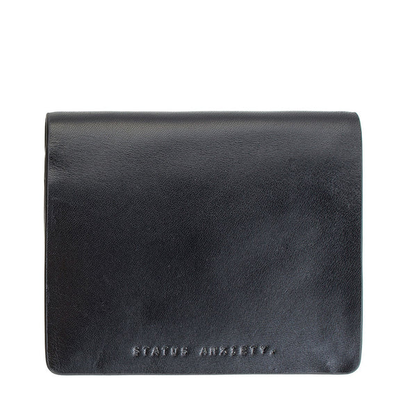 Status Anxiety MENS NATHANIEL WALLET BLACK LEATHER - Elwood 101