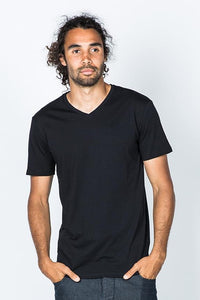 Casa Amuk MENS BASIC V NECK TEE BLACK ....Save 20% Details Below - Elwood 101