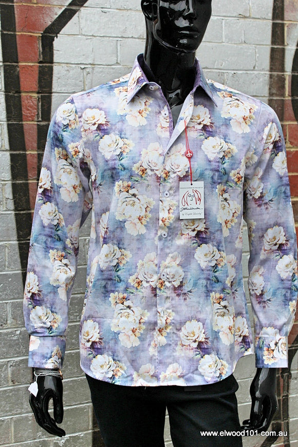 John Lennon MENS NORWEGIAN WOOD LONG SLEEVE SHIRT LILAC