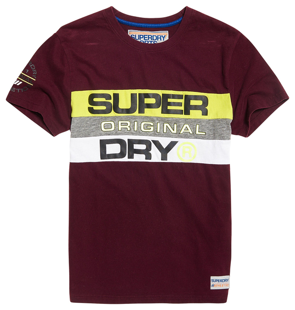 Superdry TROPHY PANEL TEE WINERY