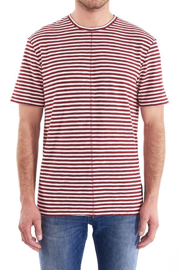 Neuw REGULAR STRIPE TEE RED WHITE