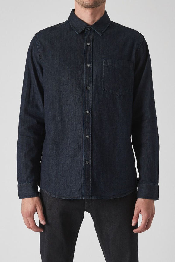 Neuw MENS  WAITS DENIM SHIRT - ZERO DARK