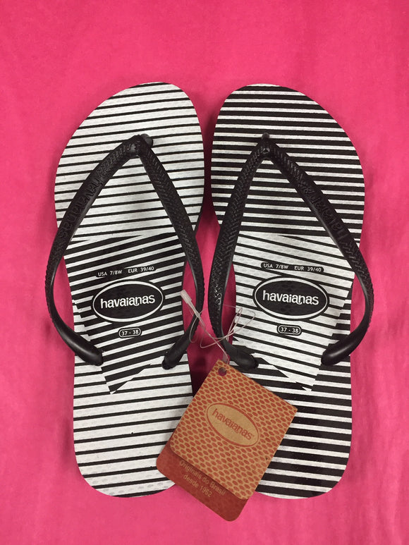 Havaianas SLIM GRAPHIC BLACK/BLACK FEMALE - Elwood 101