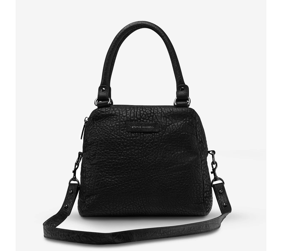 PRE ORDER Status Anxiety WOMENS LAST MOUNTAINS LEATHER BAG - BLACK BUBBLE