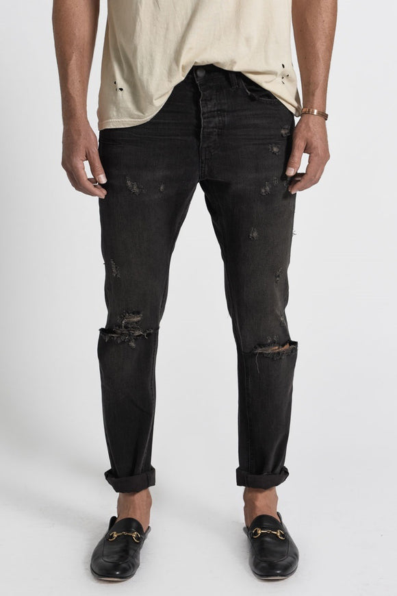 OneTeaspoon BLACK METAL MR WHITES JEANS