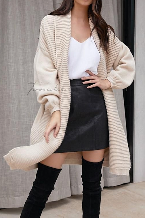 Two Sisters The Label DANNIE KNIT CARDIGAN - BEIGE