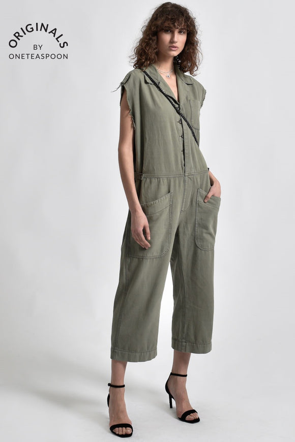 OneTeaspoon SAFARI CAMP OVERALLS MILITAIRE