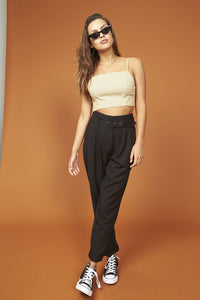 MINK PINK DAILY HIGH WAISTED TROUSERS