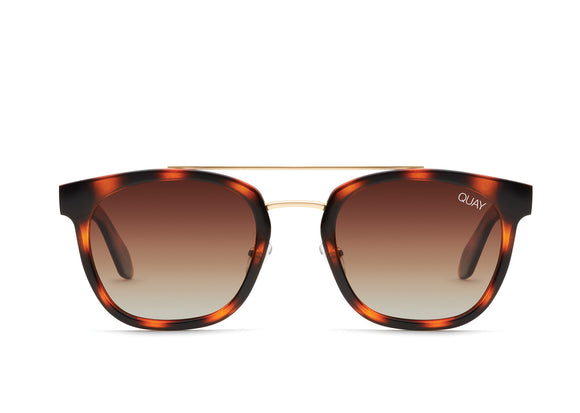 Quay Australia COOLIN POLARISED SUNGLASSES - TORTOISE BROWN
