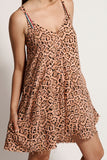 OneTeaspoon WOMENS CORAL LEOPARD MARLEY DRESS - CORAL ANIMAL PRINT - Elwood 101