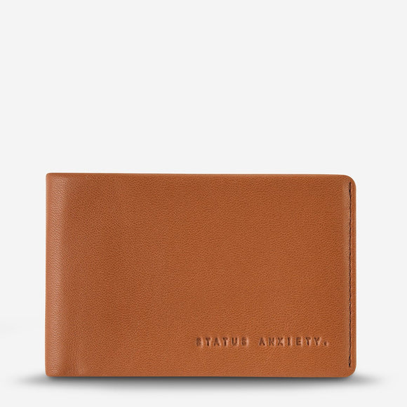 Status Anxiety MENS QUINTON LEATHER WALLET CAMEL