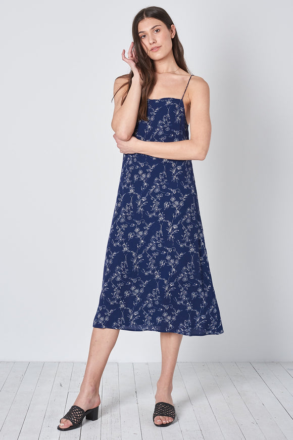 Rollas WOMENS DAHLIA SLIP DRESS NAVY