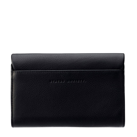 Status Anxiety REMNANT WALLET BLACK.....INC FREE EXPRESS POST AUSTRALIA WIDE