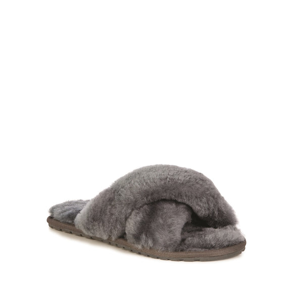 Emu Australia WOMENS MAYBERRY SHEEPSKIN SLIPPERS - CHARCOAL