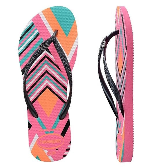 Havaianas SLIM TRIBAL SHOCKING PINK FEMALE - Elwood 101
