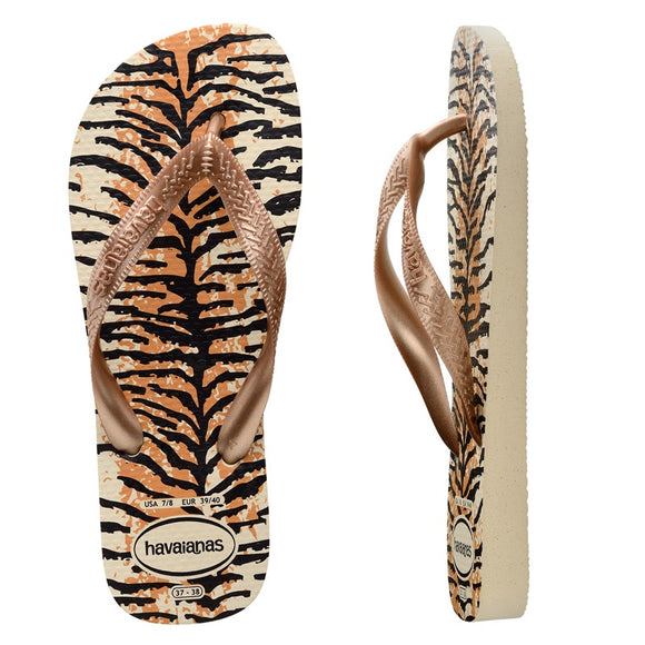 Havaianas TOP ANIMALS BEIGE/ROSE GOLD/ROSE GOLD FEMALE THONGS