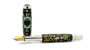 Aaron Rollerball/Fountain/Hybrid Pen | Carbon Fiber Watch Parts | Franck Muller | Green | Rhodium and Black Titanium