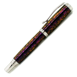 George Rollerball/Fountain/Hybrid Pen | Intrepid Dark | Rhodium